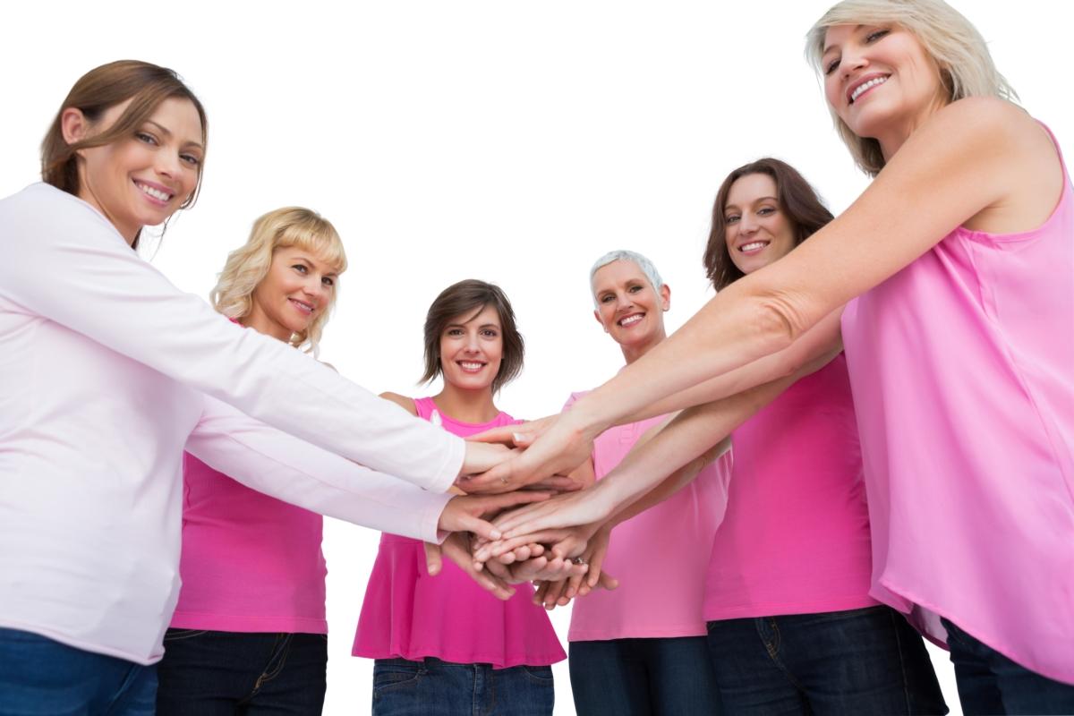 Women in pink