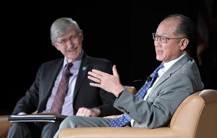 Francis Collins and Jim Yong Kim