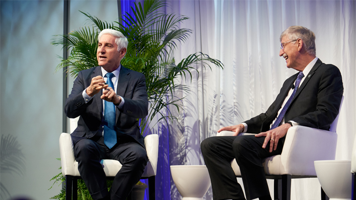 Francis Collins meeting with Jonathan LaPook