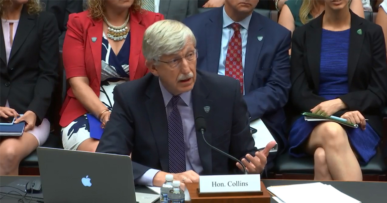 Francis Collins Testifying Before Congress