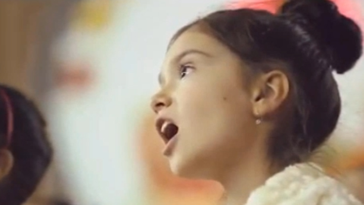 young girl singing