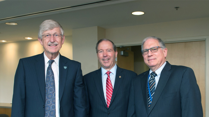 Dr. Francis Collins, Senator Tom Udall and Dr. Larry Tabak
