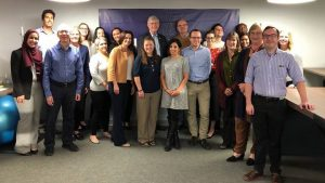 Dr. Francis Collins poses with All of Us Research grantees