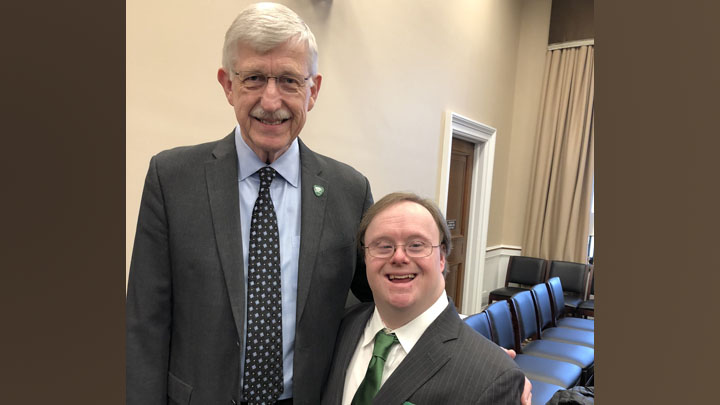 Francis Collins standing with Frank Stephens
