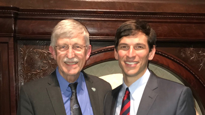 Francis Collins with David Fajgenbaum