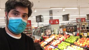 Pablo Vidal-Ribas Belil at the grocery store
