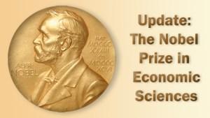 Update: Nobel Prize in Economic Sciences