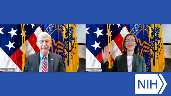 Francis Collins and Lindsey Criswell